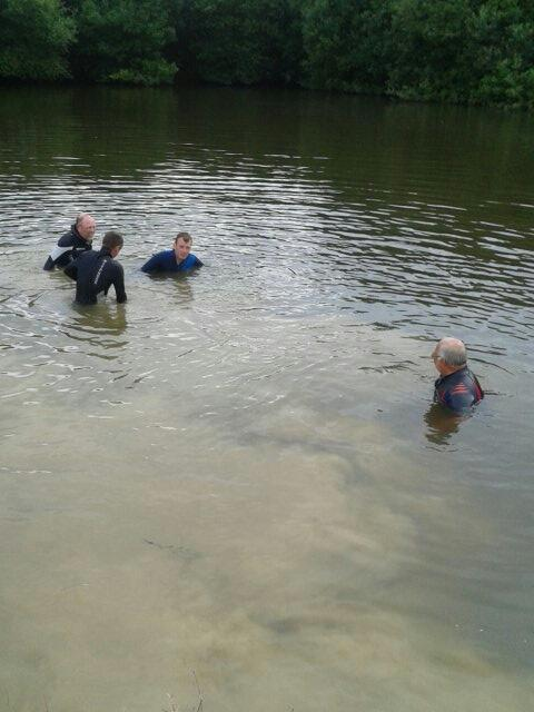 Tim paul dan and keith ball hunting in the hgc ponds ! http://t.co/mOdLBlgw0j