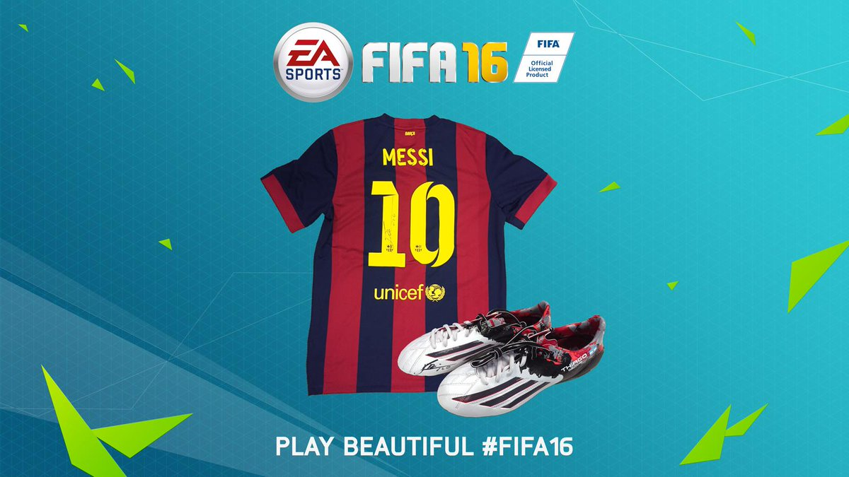 RT for a chance of winning a signed #Messi top and boots. Happy birthday to the maestro! #FIFA16