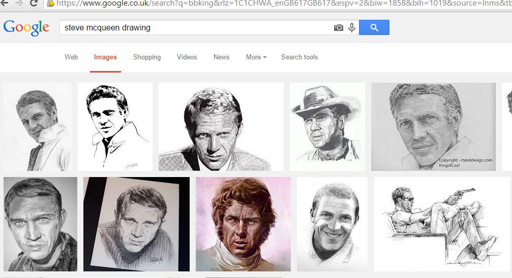 Now 5th in Google rankings for #Steve #mcqueen #drawing @MaryToporowski @Yokibean11 @perez_hall @SpiritWhiteEagl ;O)<br>http://pic.twitter.com/wIxelJeStZ