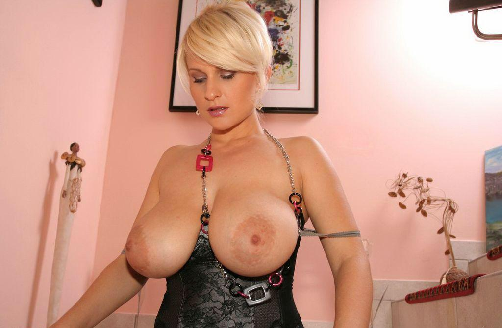 Short Hair Big Tits Blonde