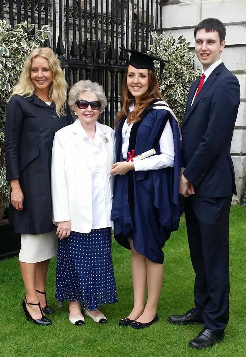 First tweeted pic of my family.Me, Mum (87 next week), Katie and Cameron. And we all live together in a happy house x http://t.co/z3LynndUqk