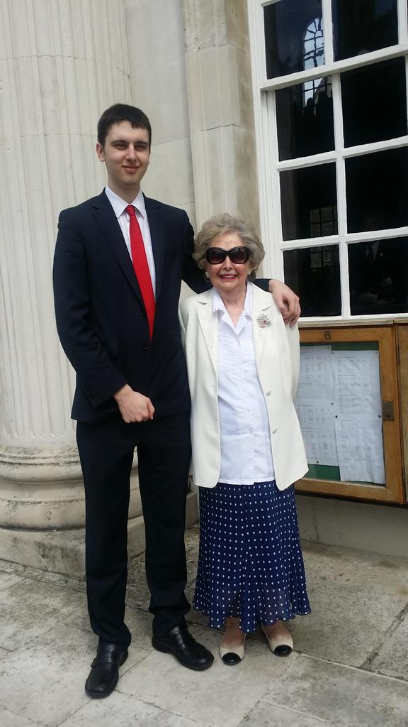 The long and the short of it... My lovely Mum and my boy Cameron #Cambridge x http://t.co/PWm2xEFSOS