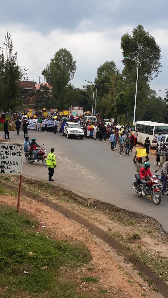 Protests outside British High Commission in Kigali as Rwandan spy chief due in court in London