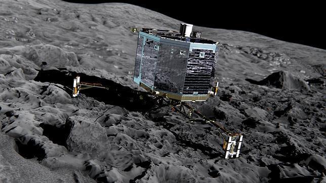 Missione compiuta! La felicita' all'arrivo sulla Cometa 67/P
