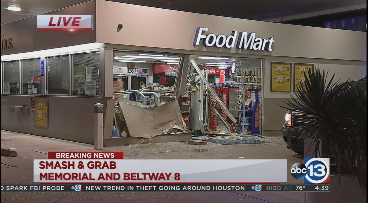 Breaking A Smash And Grab At A Chevron Gas Station Near Memorial