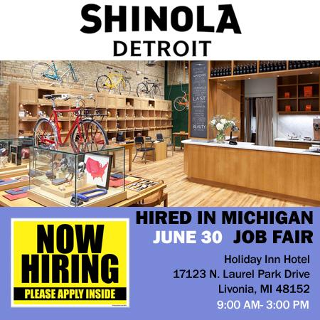 @Shinola hiring at Detroit Job Expo June 30 at Holiday Inn. Register today @ http://t.co/dxZeYJ1DXC @JeffVaughn http://t.co/14otl6ck7f