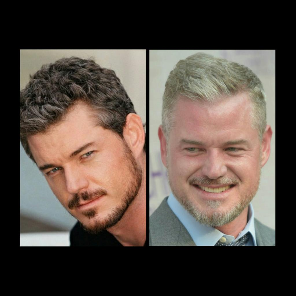 @RealEricDane #TBT  On both pics you look good, but I prefer the one on the right! #silverfox #lovegreyhair pic.twitter.com/yT3paWvbB0