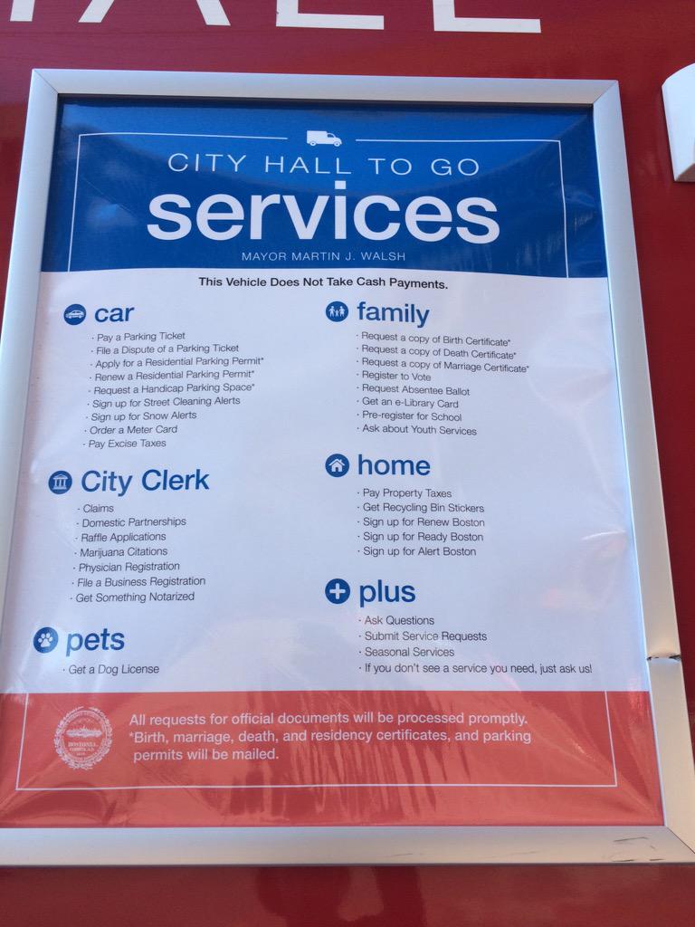 Kate Krontiris On Twitter Saw The Boston City Hall To Go Service