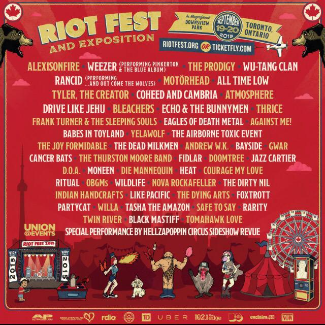 Rt for your chance to win tickets to @RiotFest w/@aof_official @Weezer @the_prodigy @WuTangClan @Rancid - Paul http://t.co/H0QtStr7rs