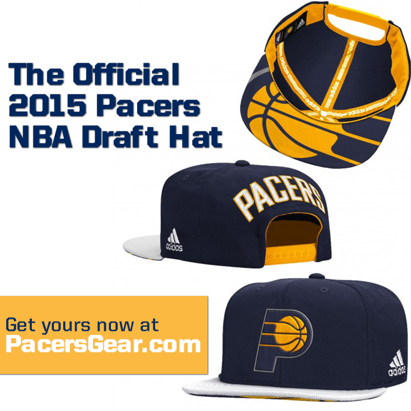 half off d6e3e 6e859 get the hat that the pacers pick will wear official 2015 pacersdraft hat on  sale now