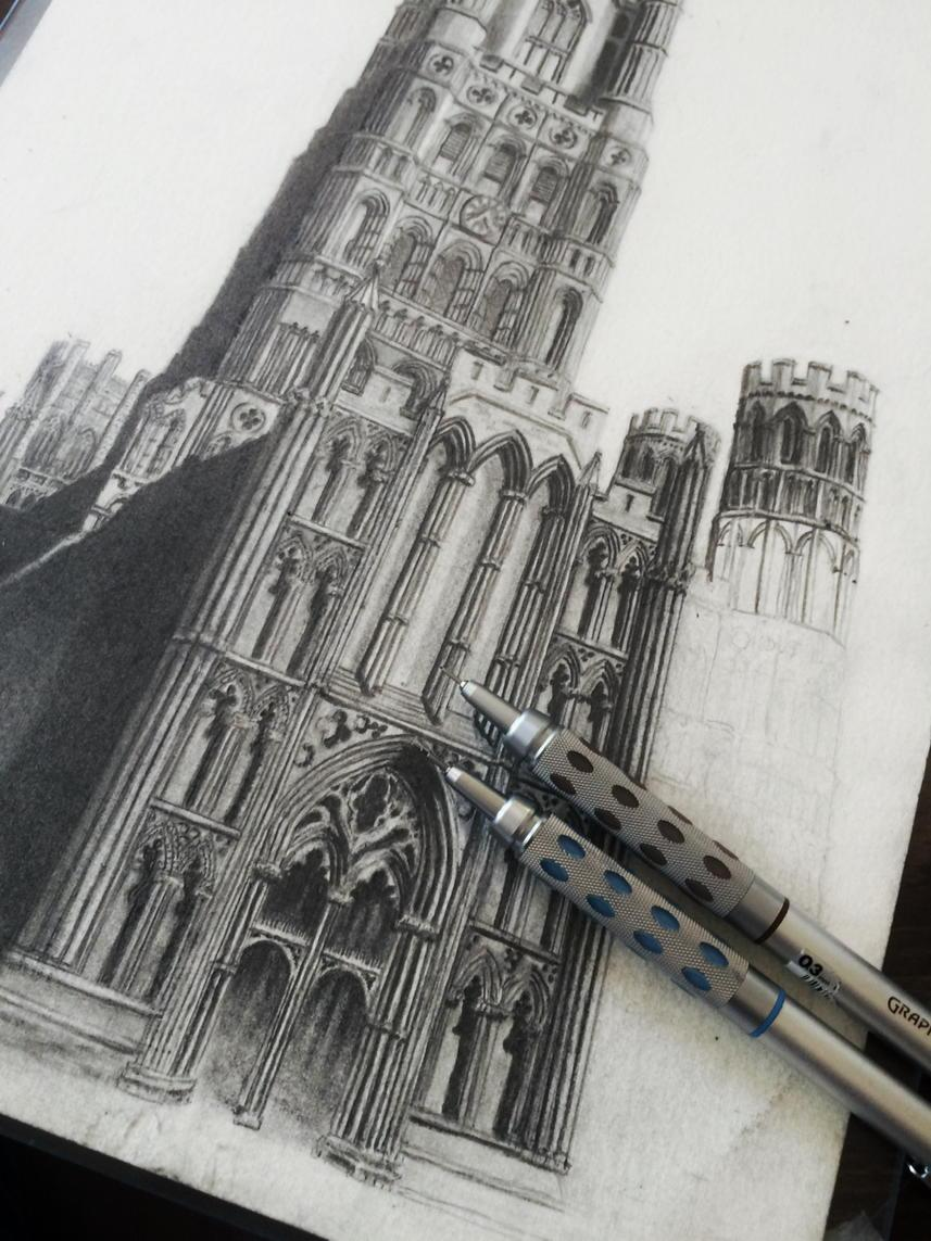 A little more http://t.co/J2sgzgMLBi practice on my @Ely_Cathedral drawing today. Hope you like it!! http://t.co/zxU9tqLOyV