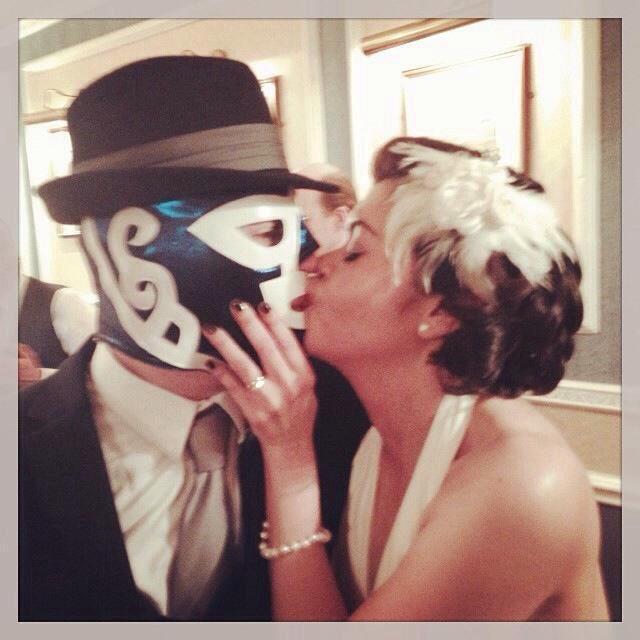My husband in our wedding *Huracán Ramírez * :) @luchalibreldn http://t.co/Xa6ubxBAxZ