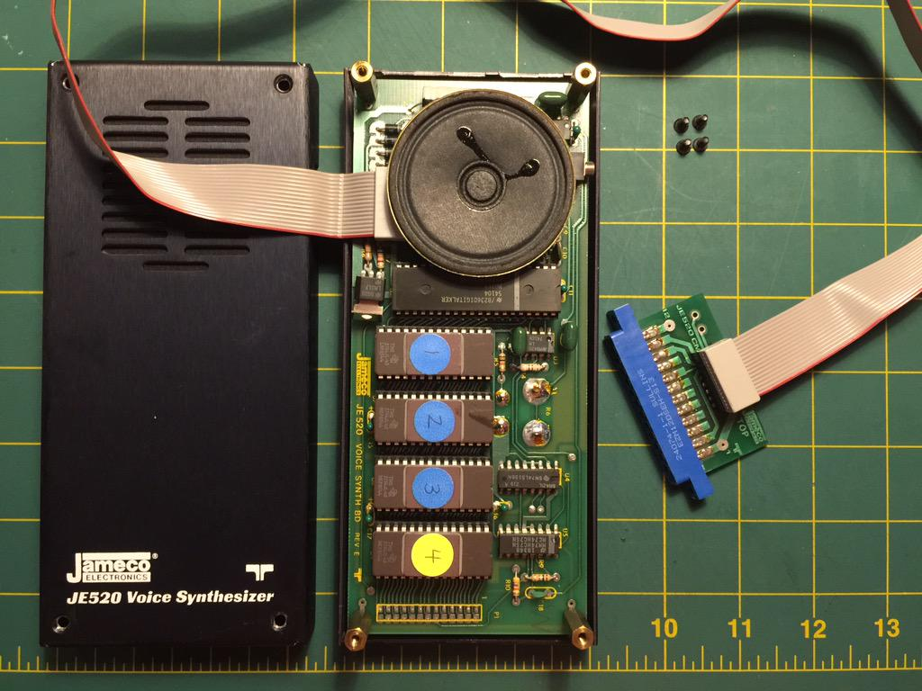 Inside the Jameco JE520 Voice Synthesizer for C64