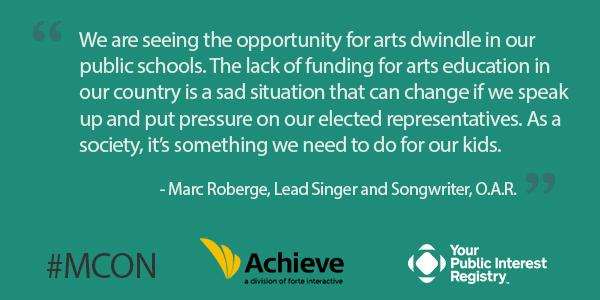 #MCON Students who study the #arts are 4 times more likely to be recognized for academic achievement: http://t.co/xFrgl2XJGb