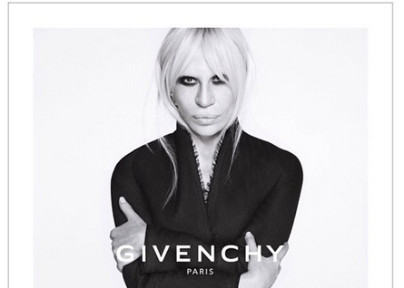 cbad29858f8f donatella versace s givenchy campaign is here and there are no gold chains  in sight
