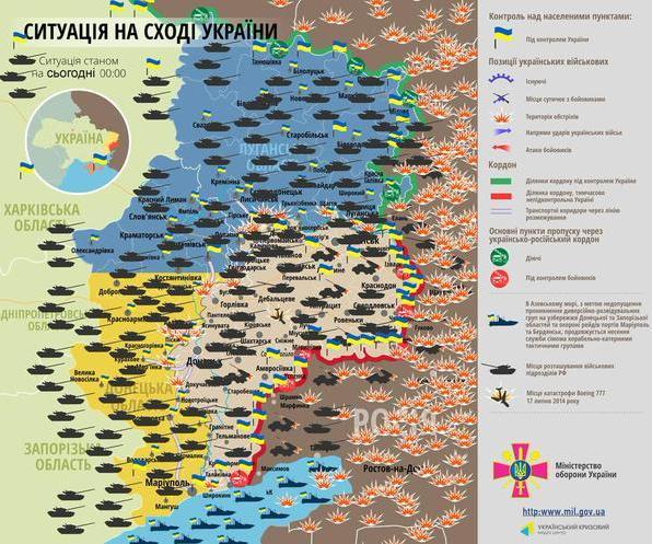 За сутки террористы 86 раз обстреляли позиции украинской армии, - пресс-центр АТО - Цензор.НЕТ 4275