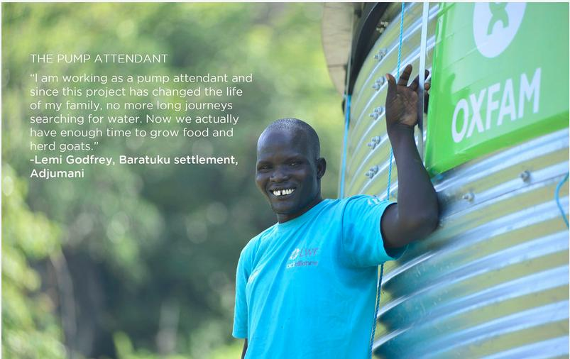 #Innovation: Solar powered water systems for #SouthSudanese refugees in Adjumani #Uganda @Oxfam is here. http://t.co/0AajpcKi70