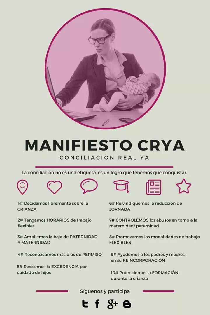 CRIANZA-HORARIOS-PA/MATERNIDAD-PERMISO-EXCEDENCIA-JORNADA-CONTROL-FLEXIBILIDAD-REINCORPORACIÓN-FORMACIÓN #CRYA http://t.co/MXv1wdOqMe