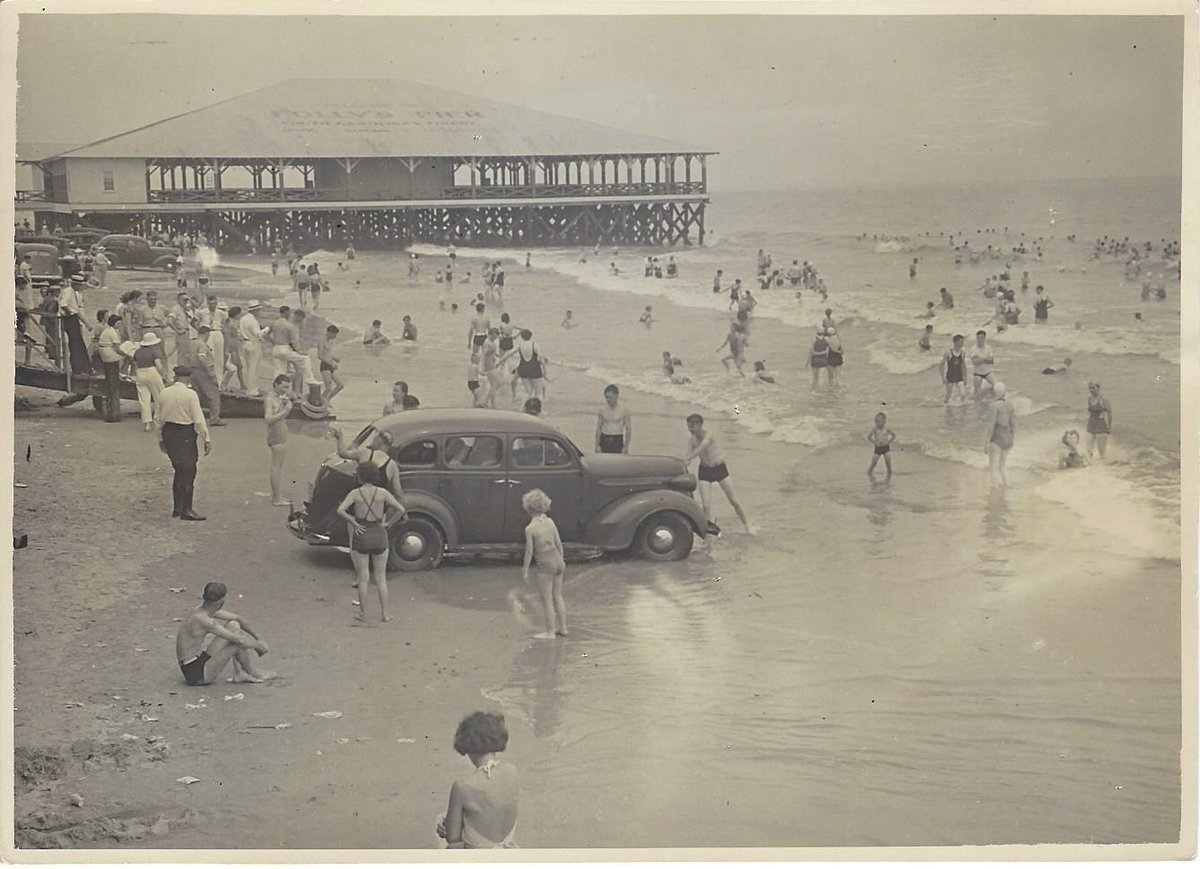 Look at Folly Beach on July 4, 1937! Image was taken by MB Paine and is part of the Museum's Archives Collection. http://t.co/BGcSd2tsFp