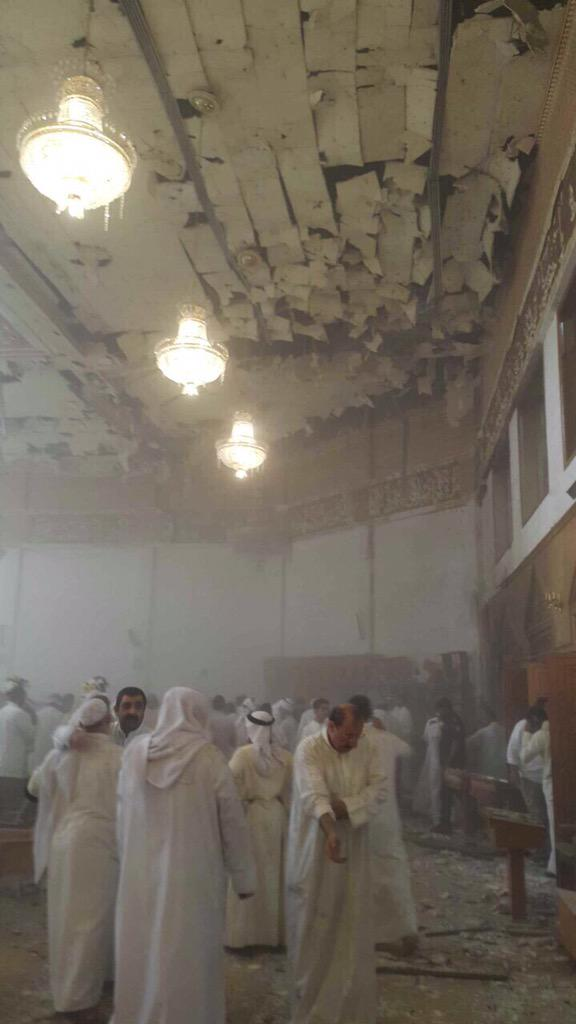 Suicide bombing at the Imam Al-Sadiq Mosque in Kuwait. One of the largest Shia mosques in the capital. #Ramadan http://t.co/xqcjmYZ62E