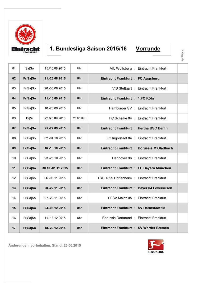 Eintracht Frankfurt On Twitter Hier Der Spielplan Unserer Sge Auf