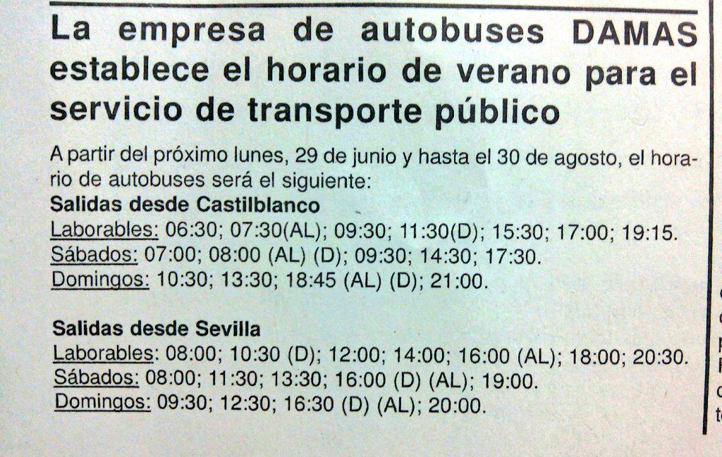 horario autobuses sevilla castilblanco