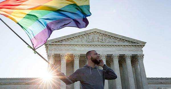 The #SupremeCourt decided today that #LoveWins, and we couldn't be happier: http://t.co/EpwJbBSQka