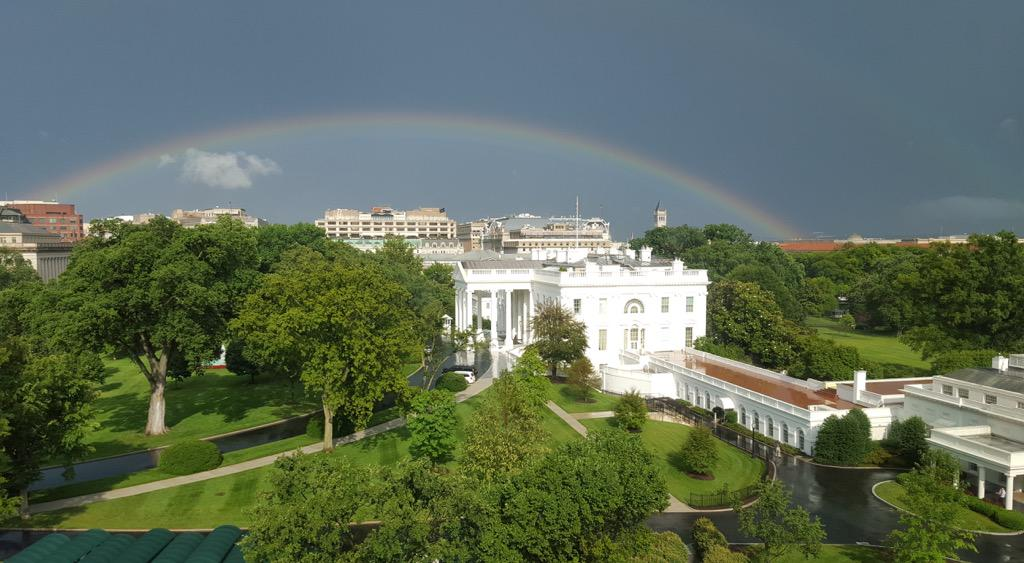 The view from our office after last Thursday's rainstorm proved to be a great omen for today's decision. #LoveWins http://t.co/Qkbus3JxOq