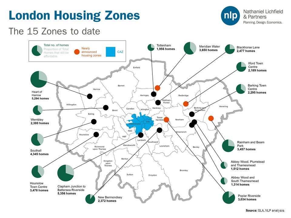 Zones In London Map.Lichfields On Twitter Gla Announce 4 More Housing Zones In London