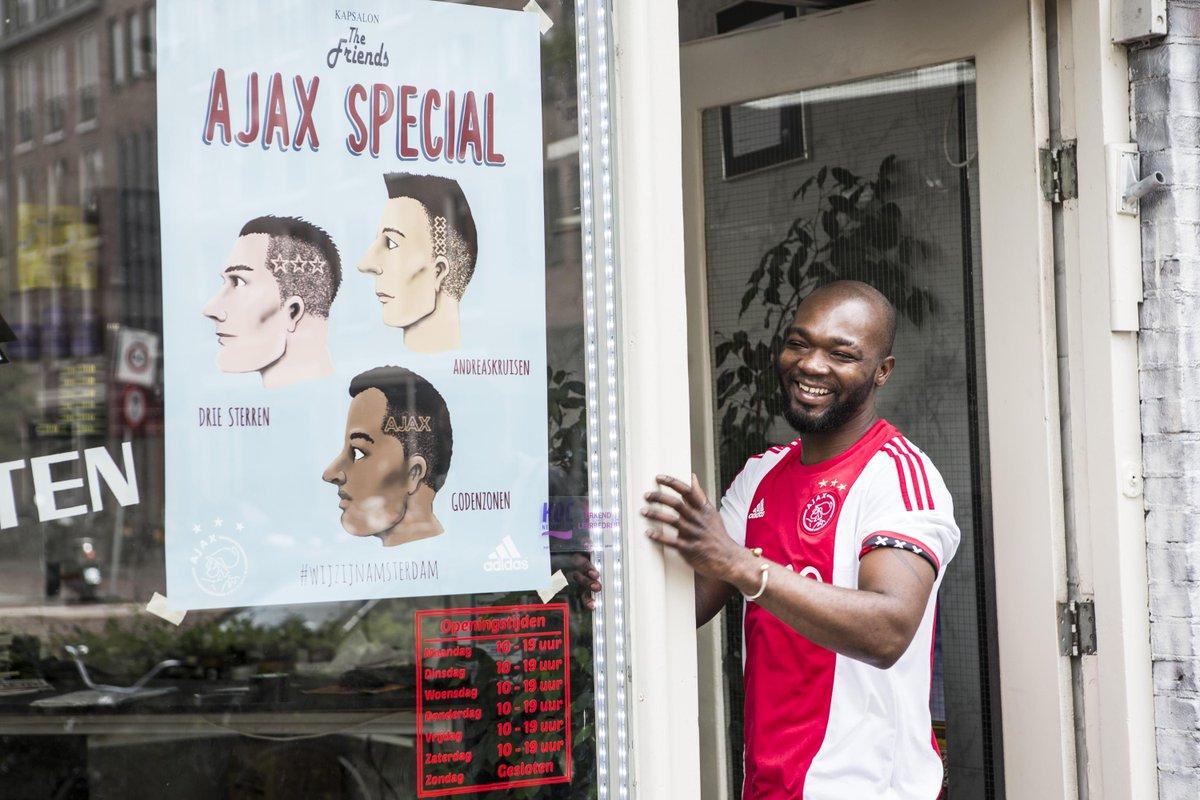 Liefde voor #Ajax en #Amsterdam zit diep. En wordt beloond met een nieuw uit- of thuisshirt. #wijzijnamsterdam