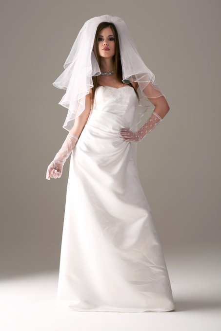 Caprice is wearing a wedding dress. Who did she marry? Find out on Watch4beauty! #LittleCaprice #w4b