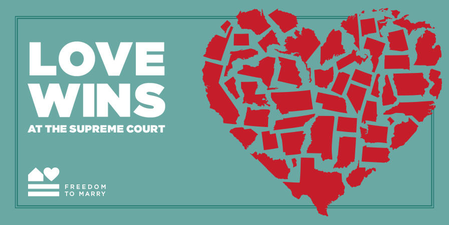 VICTORY: #SCOTUS just ruled in favor of the freedom to marry nationwide! #LoveWins http://t.co/GhseOsyhie http://t.co/UX0yAv3E9j