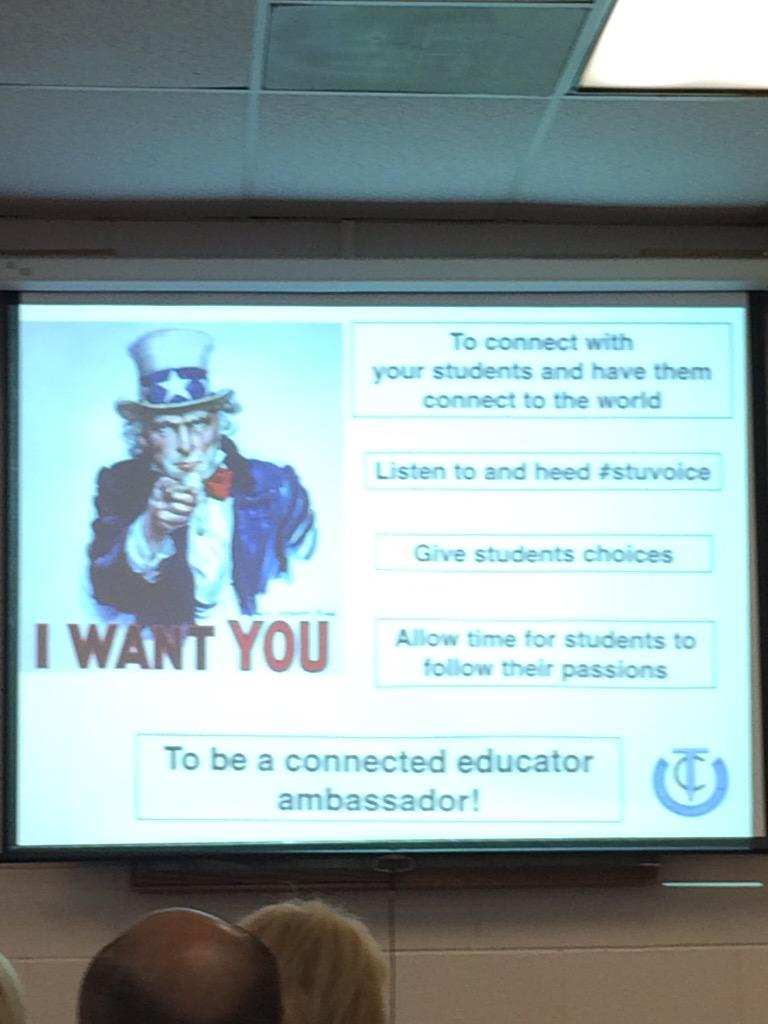 """Connect your Ss to the world!"" @cybraryman1 #TCT15 http://t.co/WhQUlYmEmJ"