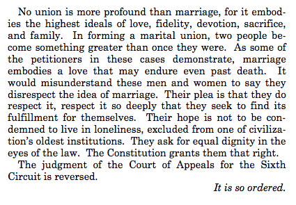 Closing Kennedy Opine on Gay Marriage