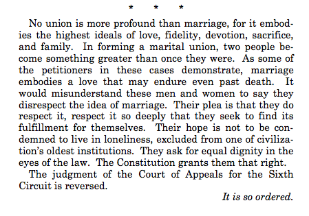 #LOVEWINS  Justice Anthony M. Kennedy's ruling ends like this: http://t.co/JV1fLjuC5m