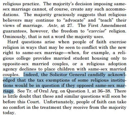 Part 2 Robert's dissent on gay marriage