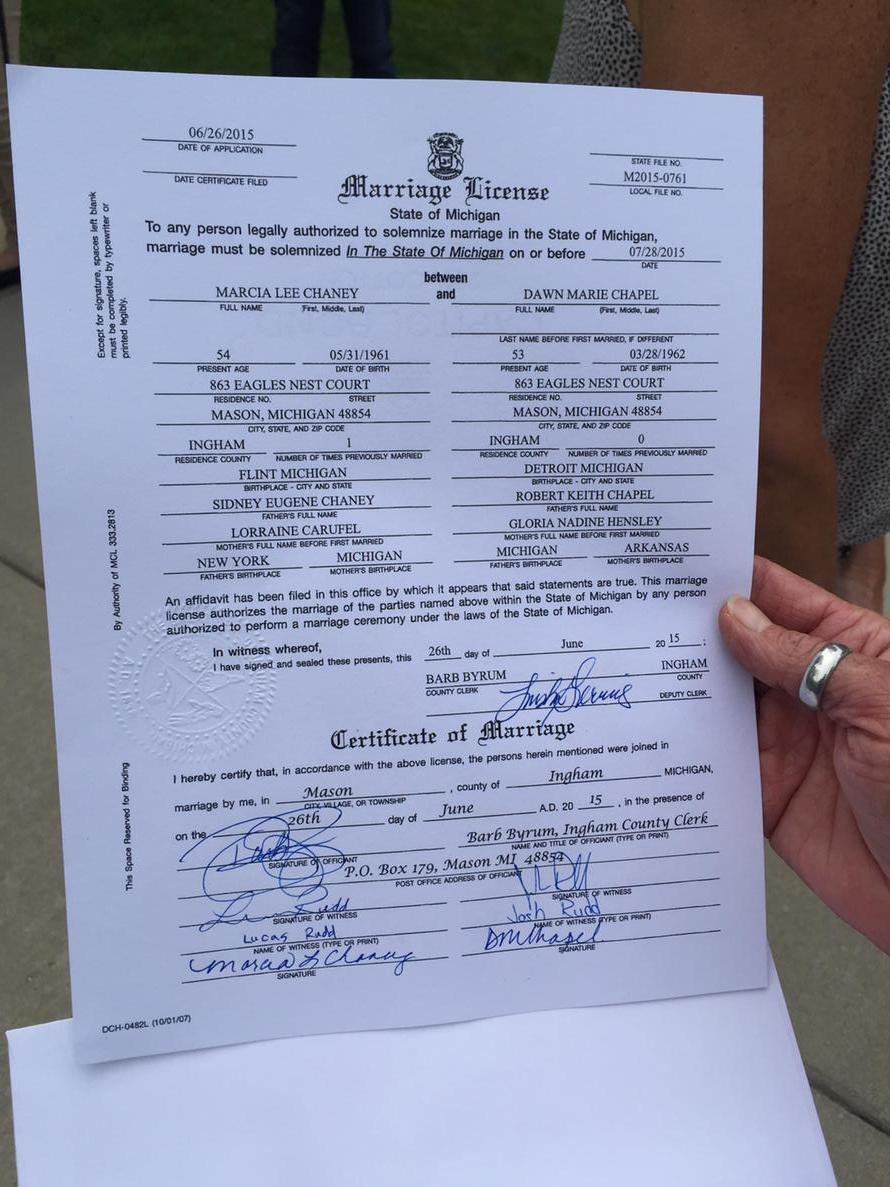 How To Get A Marriage License In Mi