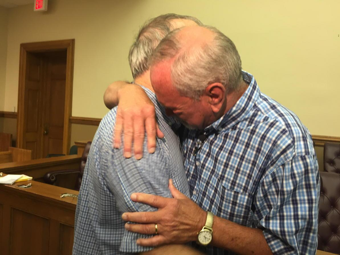 Earnie & Tony are now officially married. First couple in #Arkansas post the SCOTUS ruling. http://t.co/0neXVQEC4Q