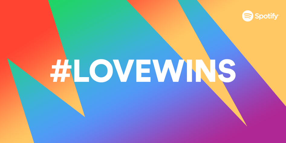#LoveWins! We're ready to hit play on your first dance 🌈 http://t.co/p9pfHH7qRm http://t.co/B9yhLxFsVq