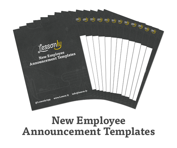Lessonly on Twitter 12 FREE New Employee Announcement Templates – New Employee Announcement Template