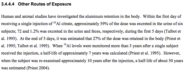CDC knows injected aluminum stays in body for 50 years - wonder if any goes into the brain? https://t.co/TfaoqroqBH https://t.co/8bVoRCT1yU
