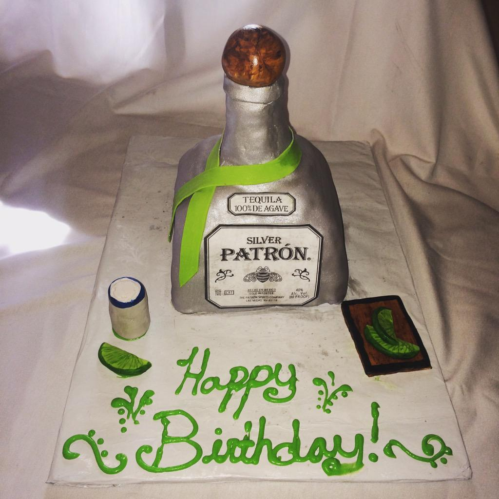 Dolcevita Bakery On Twitter Patron Birthday Cake Zillasbakery Cake Patron Silver Tequila Happybirthday T Co Kgdyzpmkm