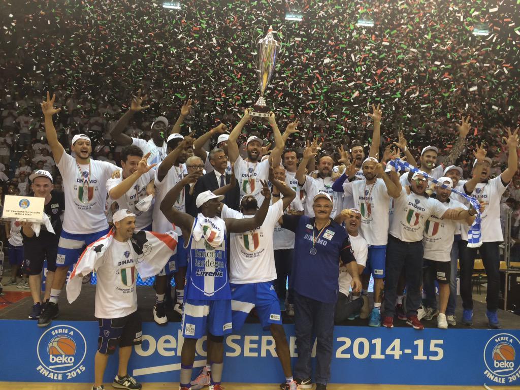 Sassari Basket Scudetto Campione d'Italia Serie A