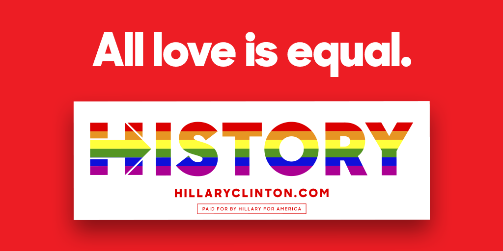Hillary clinton on twitter h is for history in the making get your free celebratory bumper sticker here → http t co 3mv8txadbr http t co wcdhm73euv
