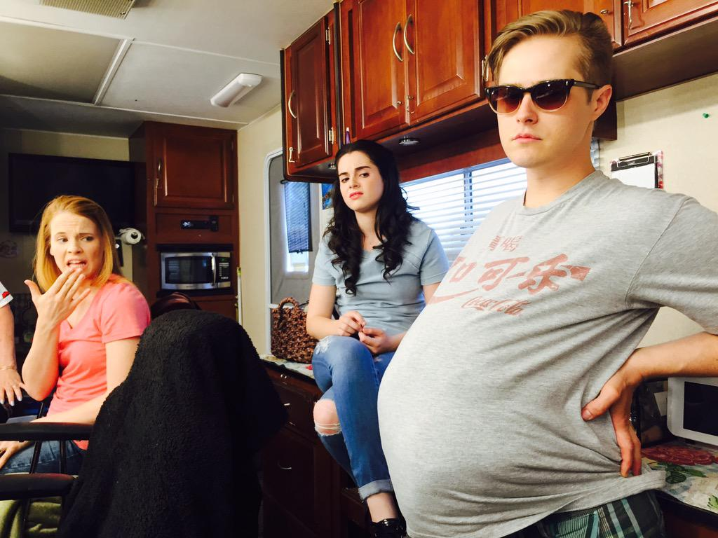 The rumors about #switchedatbirth are true. @MrGrabeel is bursting & @katieleclerc & #VanessaMarano are in shock. http://t.co/koH2gdKou2