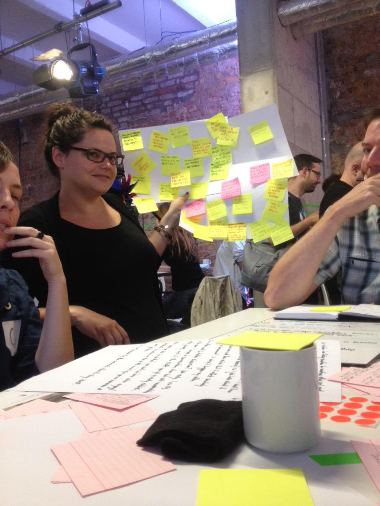Brainstorming on a challenge for the future of journalism at #hhcxn - how to engage and empower users to take action? http://t.co/WX6abPLMYg