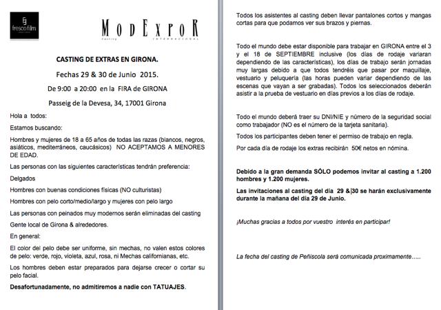 Modexpor Casting On Twitter Por Fin La Noticia Que