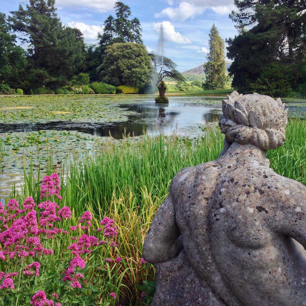 Lake, forests & wildflowers. Could spend days roaming the gardens at @thepowerscourt. #loveireland http://t.co/B7t5UpRFRq