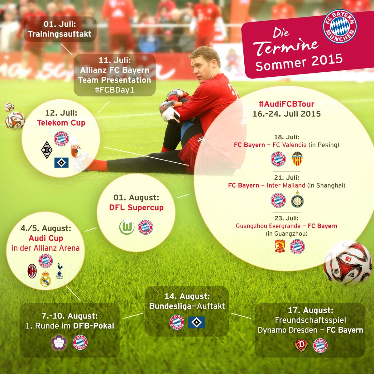 Fc Bayern München On Twitter 4 Tage Bis Zum Trainingsstart Auch