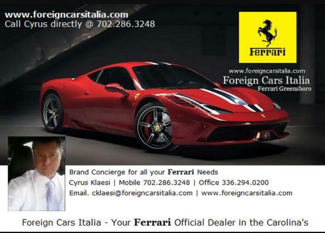 Ferrari Dealership Nc >> Ferrarigreensboro On Twitter The New Ferrari California T